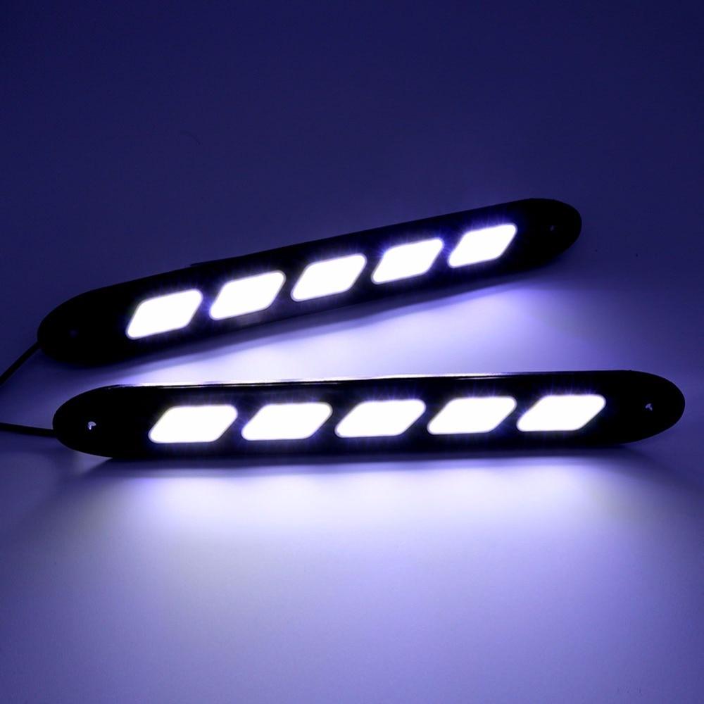 2PCS fleksibilno LED svjetlo za dnevnu vožnju COB DRL Super svijetlo - Svjetla automobila - Foto 6