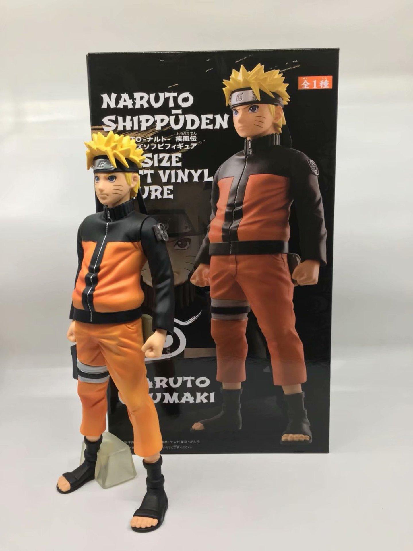 27cm Naruto Shippuden Uzumaki Big Size Soft Figure Model Collection Toys
