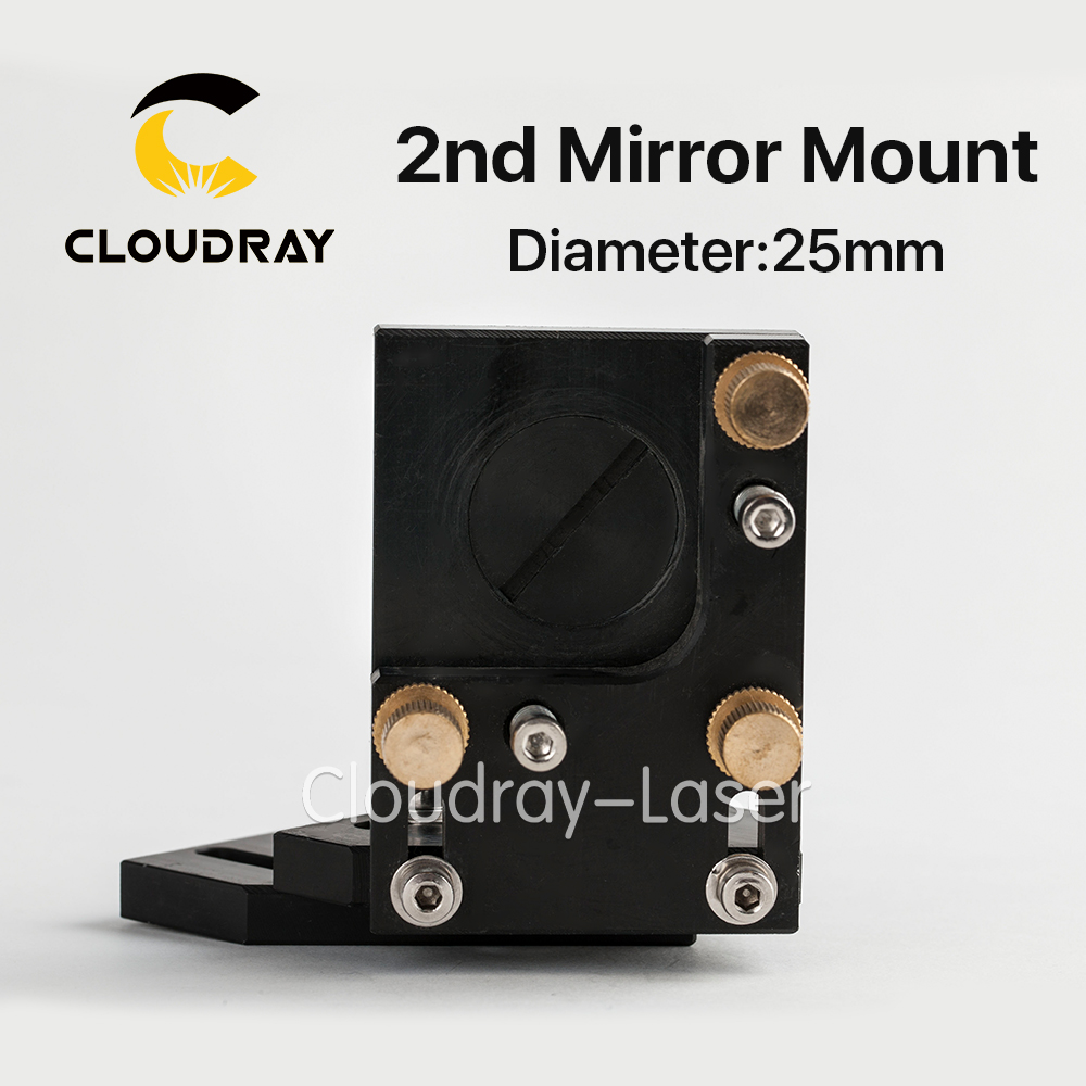 Cloudray Co2 Laser Second Reflection Mirror Mount 25mm Support Integrative Holder for Laser Engraving Cutting Machine laser path system co2 laser machine laser path system include first reflect mirror holder second mirror holder and laser head