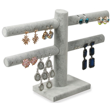 Jewelry Display Holders Earrings Display Frame Fashion Jewelry Display Rack Hot Selling Gray Color 20 Pairs Earrings Rack Stand