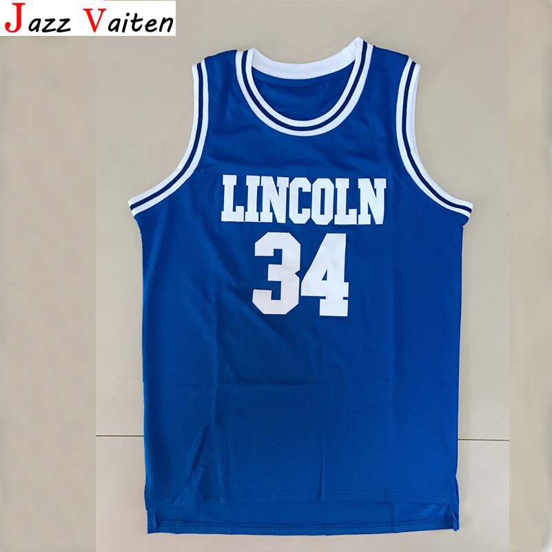 08f410d41 Jazz Vaiten Jesus Shuttlesworth  34 Lincoln Basketball Jersey He Got Game  All Stitched WHITE Blue Men Breathable jersey