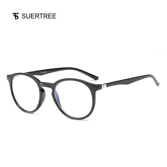 SUERTREE Reading Glasses Anti Blue Ray Ultralight HD Diopter Lens Presbyopic Glasses Comfort Fit Men and Women for Reading JH251