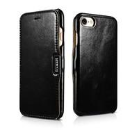 ICARER Brand Original Flip Genuine Leather Case For IPhone 7 7 Plus Luxury Mobile Phone Cover