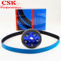 Racing Timing Belt + Adjustable Cam Gear Kit Fits For Civic D16 D16Z D16Y 92 00 Blue/Red/Purple