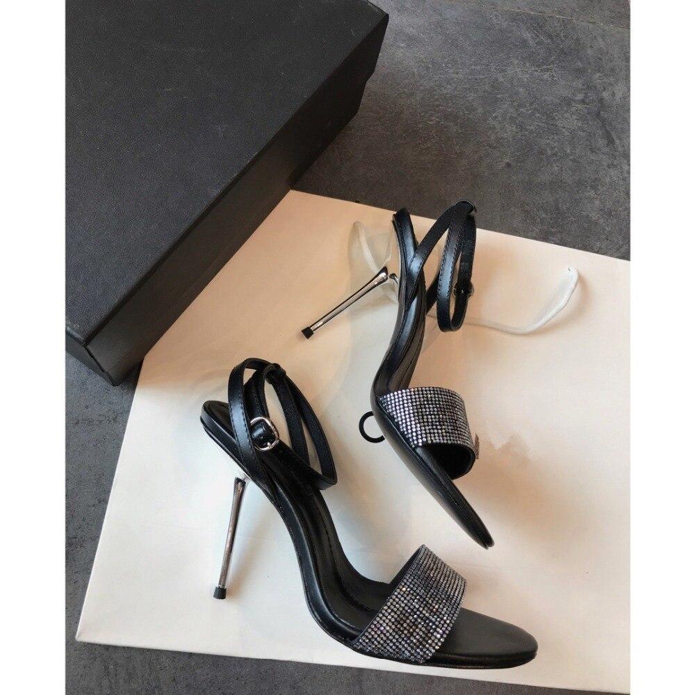 Dell'involucro Caviglia Pompe Modo Alti Sandali Sandalo Sexy Dei Degli Della Donne As 2019 Del Argento Gladiatore Talloni Delle Signore Scarpe Di Cristallo Tacco Show Bling Jane 0THdwX0q
