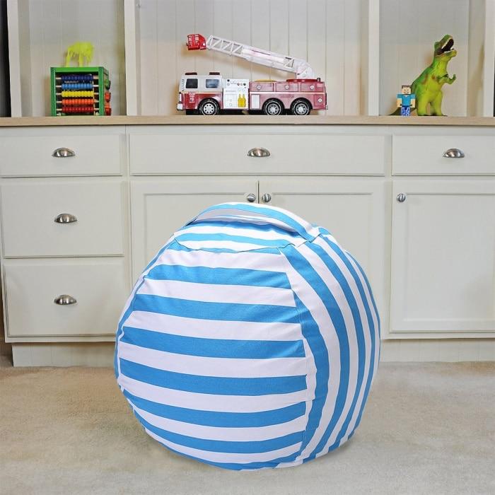 7 цветов набивная коробка животные Кресло-мешок, фасоль | Премиум детское плюшевое решение для хранения игрушек | доступно в 6 моделях - Цвет: Blue 18 inches