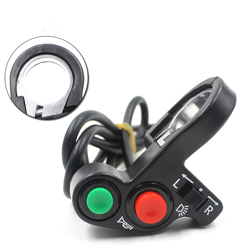 Car-styling Switches Motorcycle Bike Headlight Horn Signal Handlebar ON OFF Switch Button td3 dropship