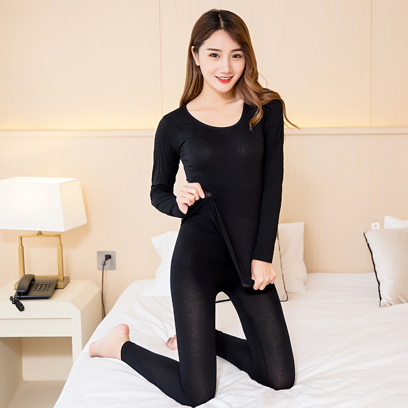 9colours Fashion 2017 Women Thermal Underwears Slim warmth Winter Warm Long Johns Ladies Seamless Antibacterial Underwear a suit