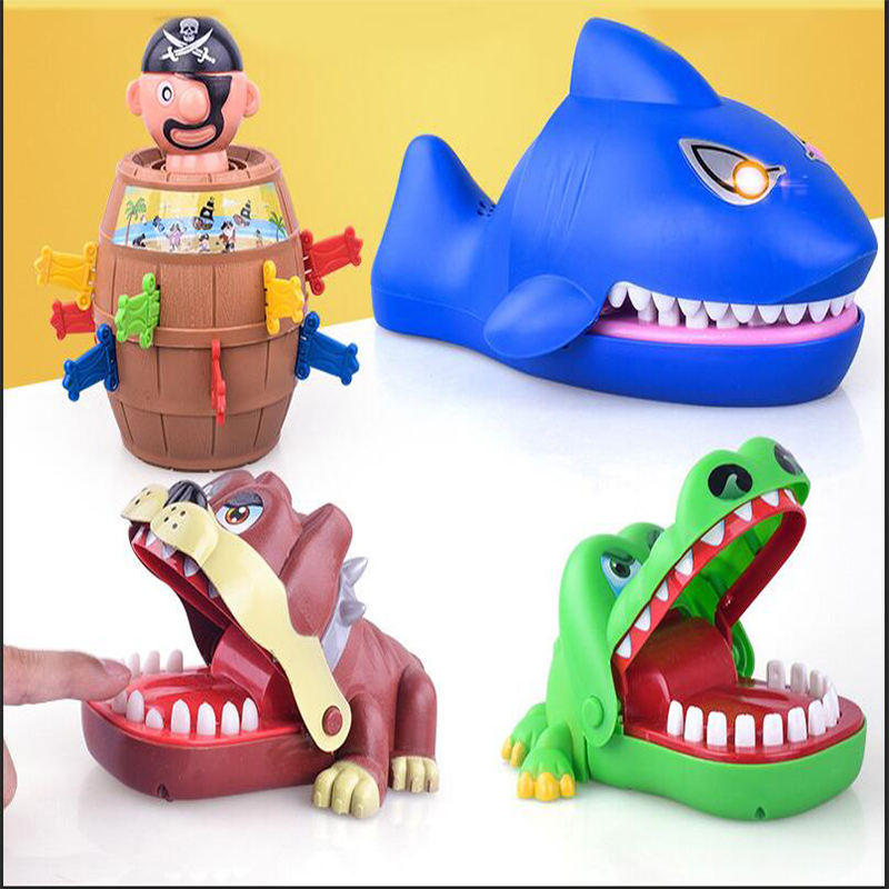 Children Large Crocodile Shark Mouth Dentist Bite Finger Game Novelty Jokes Kids Cartoon Pirate Barrel Family Trick Funny Game interactive toys barrel crisis novel whimsy classic family funny game toys money bank baby kids toys lucky pirate game gifts