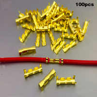 100 pçs/lote duplo u-tipo linha pino cabo conector de cobre 0.5-1.5mm fio quadrado terminal -- m25