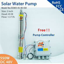 2 дюйма 550 Вт 48 в DC бесщеточный Солнечный водяной насос с синхронным двигателем поток воды 1,5 т/ч погружной насос для дома и сельского хозяйства