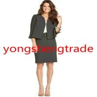 Серый Для женщин Бизнес костюм Индивидуальный заказ Для женщин одежда Женская юбка костюм 480