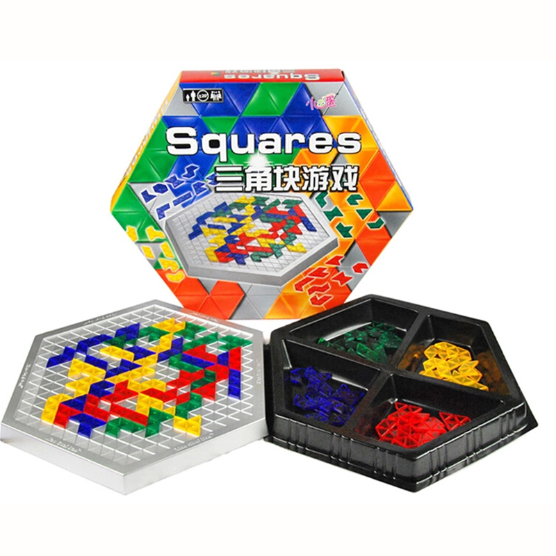 Squares Puzzle Board Game Hexagonal Blocks Family/Party Parents with Children Box Game Entertainment