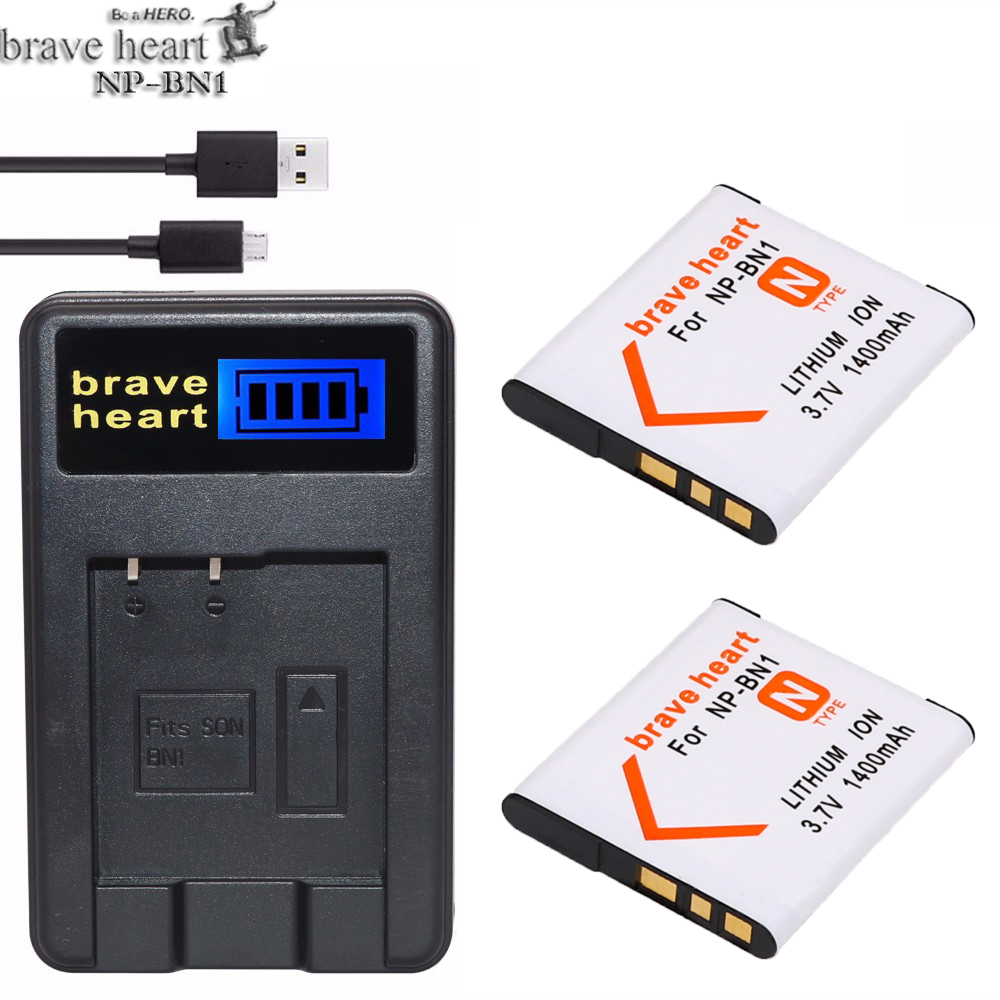 Prix pour 2x bateria NP BN1 Batterie NP-BN1 NPBN1 + Chargeur Pour Sony DSC-WX100 WX9 WX50 WX7 W510 W320 W310 W330 TX10 TX100 T110D Caméra