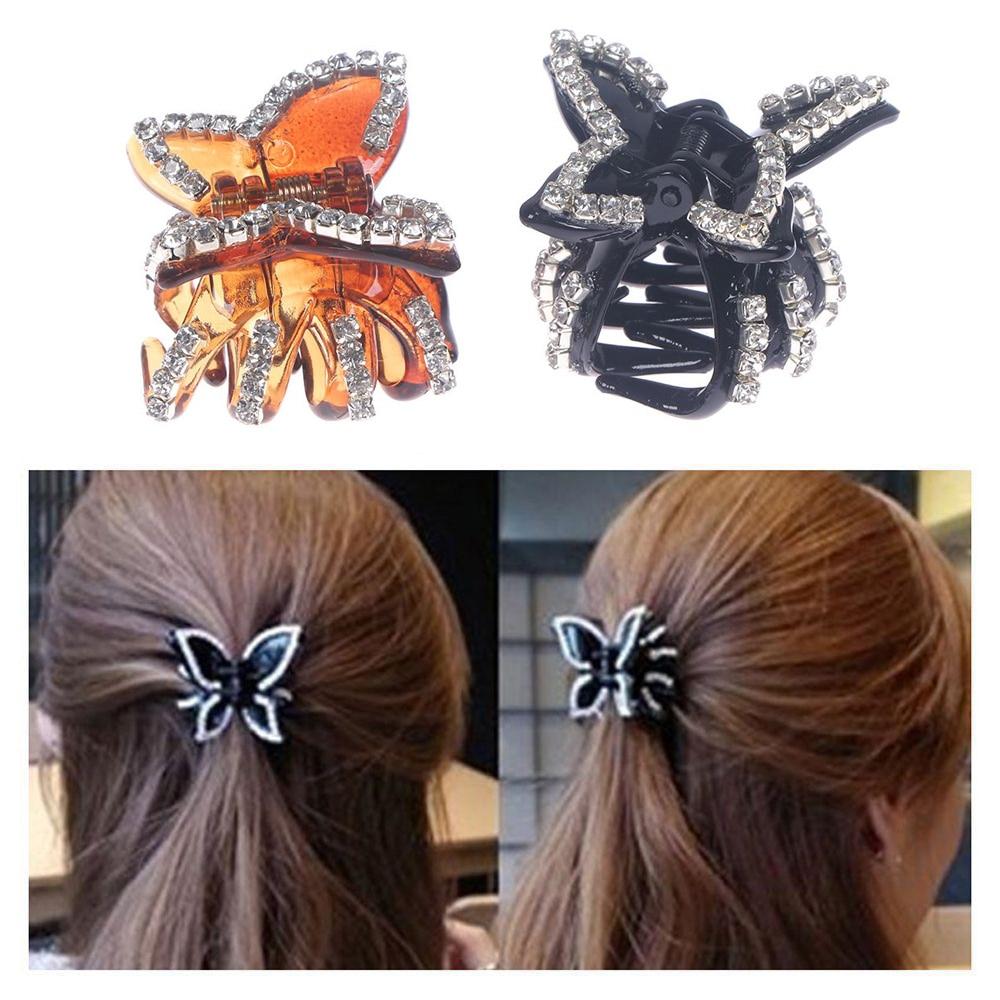 Crystal Hair Clip Rhinestone Hairpin Claw Clamp Wedding Women Hair AccessorKRFS