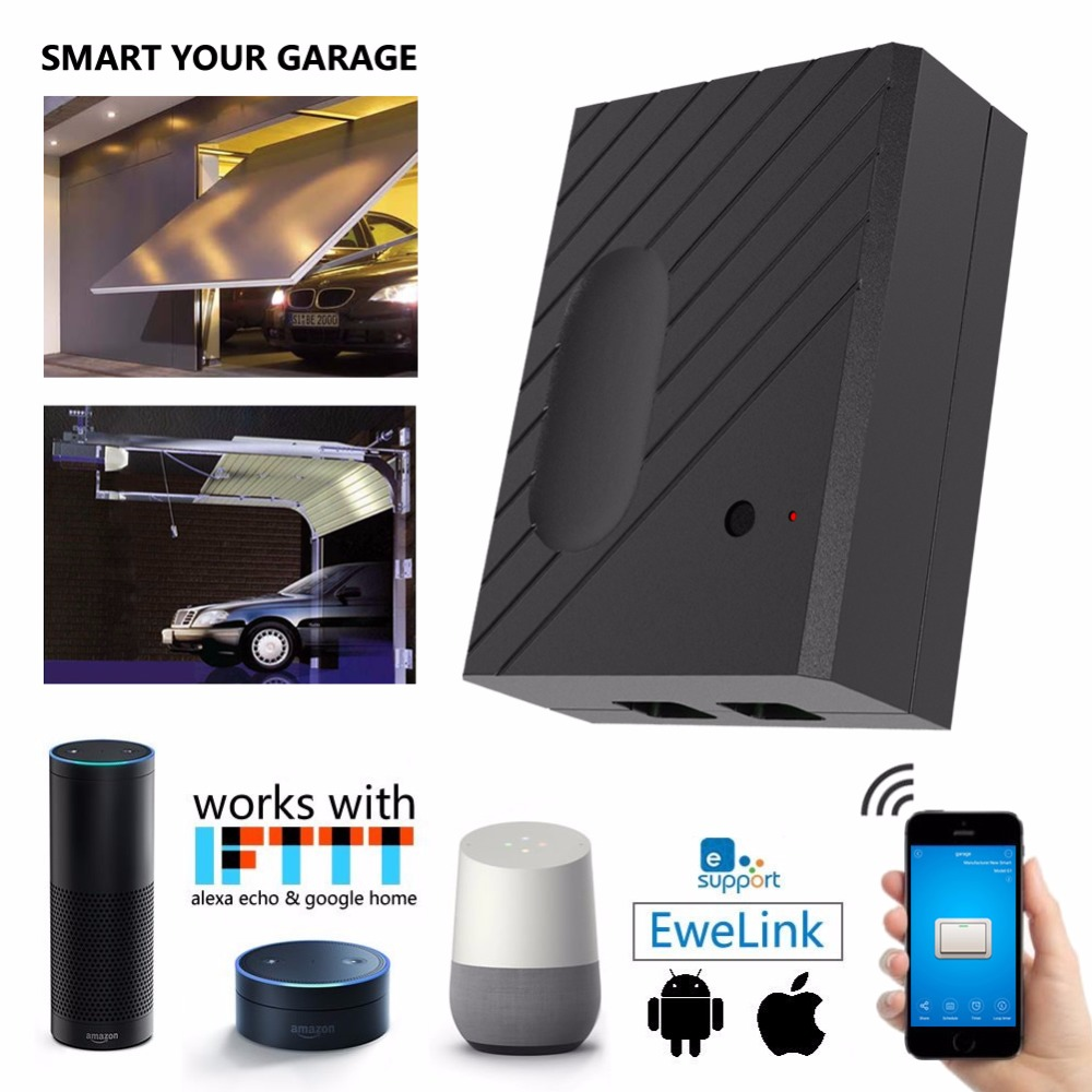 US $49 9 |WiFi Remote Garage Door Openers Control Using Ewelink APP,  Compatible with Amazon Alexa, Google Home, and IFTTT(GD DC5)-in Home  Automation