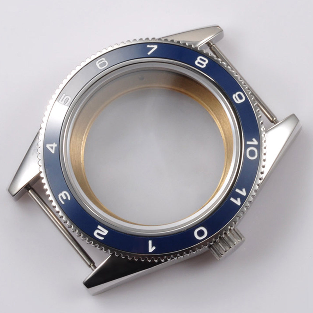 41mm Blue Ceramic Bezel Sapphire Cystal Watch Case Fit for 2824 2836 automatic mechanical Movement | Repair Tools & Kits