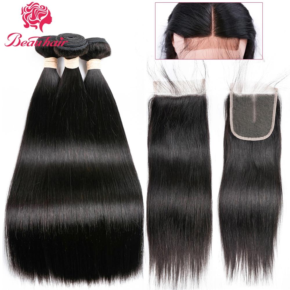 Beau Hair Hair Bundles с закрытием кружева - Красота и здоровье