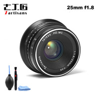 7artisans 25mm / F1.8 Prime Lens to All Single Series for E Mount / for Micro 4/3 Cameras A7 A7II A7R A7RII X A1 X A2 G1 G2 G3