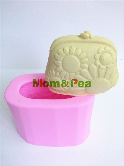 MomPea 0008 Free Shipping Coin Purse Shaped Silicone Soap Mold Cake Decoration Fondant 3D Food Grade Mould