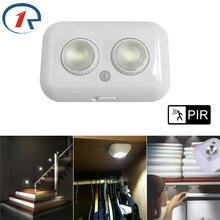 ZjRight LED cabinet light PIR Motion Sensor Human Body Induction indoor lighting Kitchen Closet Toilet bookcase wall night Light