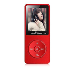 Ultrathin 8GB MP3 Player with Speaker 1.8 Inch Screen Can Play 80 hours Original IQQ X02 with FM Radio E-Book Clock Data Red