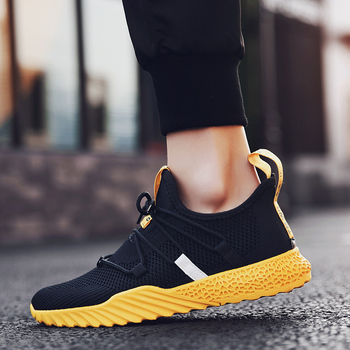 Black Red Yellow Mesh Men Casual Shoes Fashion 2019 New Listing Men Sneakers Summer Lightweight Knit Breathable Movement Shoes Обувь