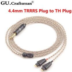 GUCraftsman 6N silver TH610 TH900 MK2 TH909 2.5/4.4/XLR Balance Headphone upgrade cable