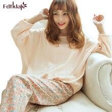 Fdfklak Mode Lente Herfst Nachtkleding Sets Vrouwen Pyjama Lange Mouw Pijama Sexy Satijnen Pyjama Vrouwen Nachtkleding Home Kleding
