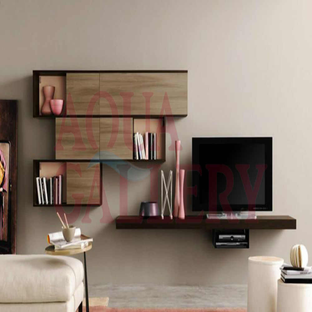Modern Fashionable Black European Style Wall Mounted TV Cabinet ...