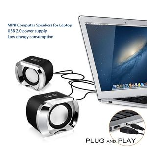 Image 2 - Usb 2.0ノートブックスピーカー有線ステレオミニコンピュータスピーカーデスクトップラップトップノートブックpc用MP3 MP4 3.5ミリメートルaux in黒