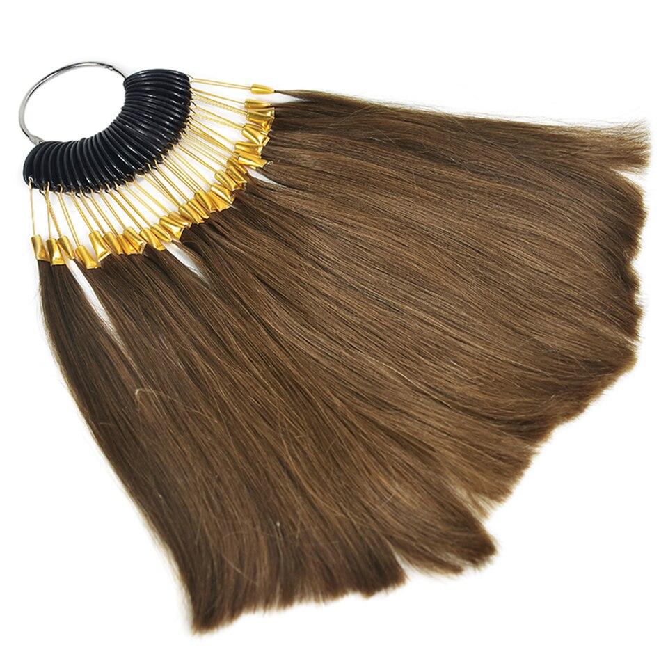 e salão de beleza cabelo tingimento amostra, pode ser tintura qualquer cor