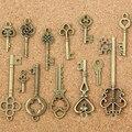 13Pcs Antique Old Look Bronze Keys Vintage DIY Pendant Metal Charms Decorations