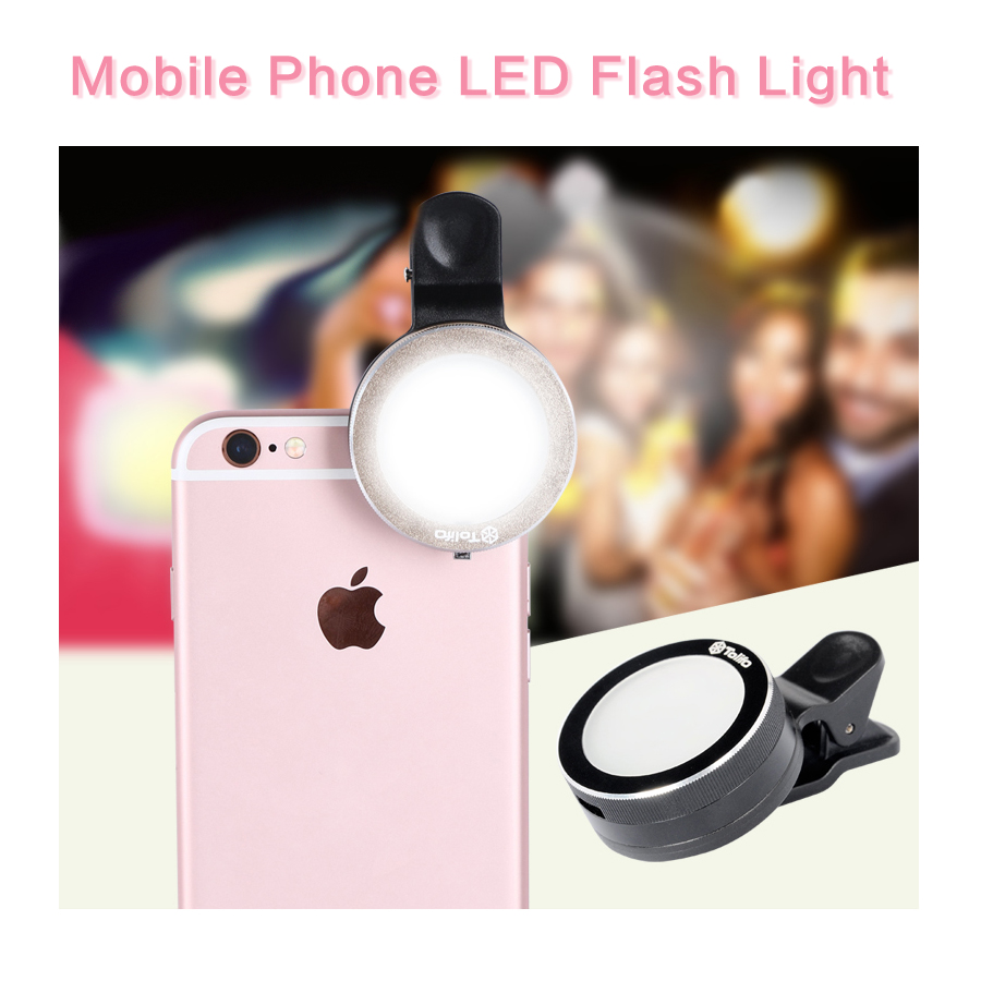 Mobile Phone LED Flash Light Beauty Selfie Ring light with 6 LED ... for Beauty Light For Iphone  104xkb