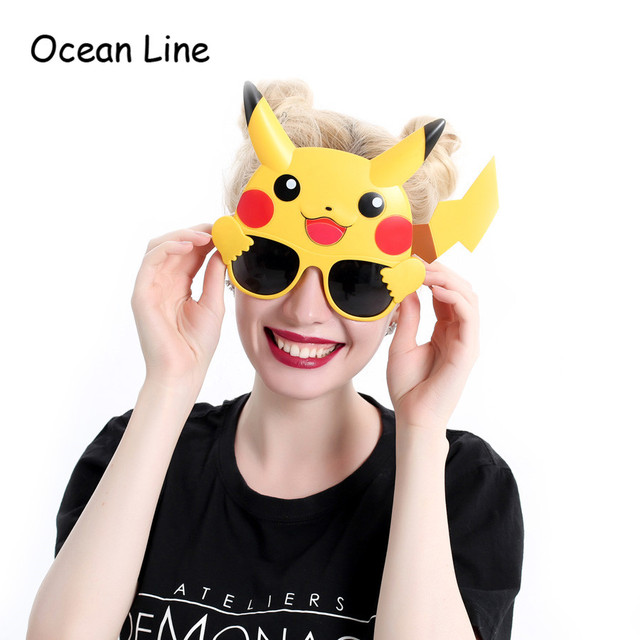 2017 New Pokemon Go Party Pikachu Costume Toys Funny Glasses Birthday Cosplay Photo Booth Props Event Party Supplies Decoration
