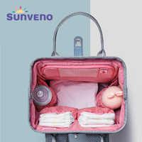 SUNVENO 2019 Neue Windel Tasche Rucksack Große Kapazität Wasserdichte Windel Tasche Kits Mumie Mutterschaft Reise Rucksack Pflege Handtasche