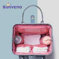 SUNVENO 2019 nueva bolsa de pañales mochila de gran capacidad impermeable bolsa de pañales Kits momia maternidad mochila de viaje bolso de enfermería
