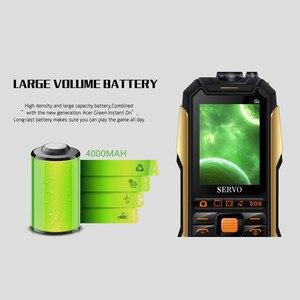 "Image 4 - SERVO X7 Mobile Phone 3 SIM Cards 2.4"" Antenna Analog TV Voice Changing Laser Flashlight Power Bank Russian keyboard Cell Phones"