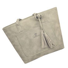 Frauen Mode Quaste Handtasche Schultertasche Große Tote Damen Geldbörse frauen messenger bags leder crossbody