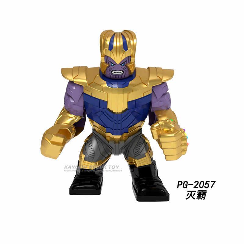 Super Heroes lEGOED Marvel Avengers Infinity War Iron Man Thanos Thor Black Panther Falcon Gamora Hulk Building Blocks toy