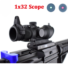 Tactical Hunting Optics Sight Scope ACOG 1X32 Red Green Dot Sight Scope for 20mm Rail Rifle Airsoft Gun Hunting Scope цены