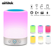 L7 Smart Light Portable Bluetooth Speaker Wireless Stereo Speaker Touch Control Color Change LED Bedside Table Lamp FM Radio Mic