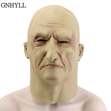 GNHYLL Underworld Boss Cosplay Scary Full Head Latex Mask Halloween Horror Funny Party Old Man Helmet Masks