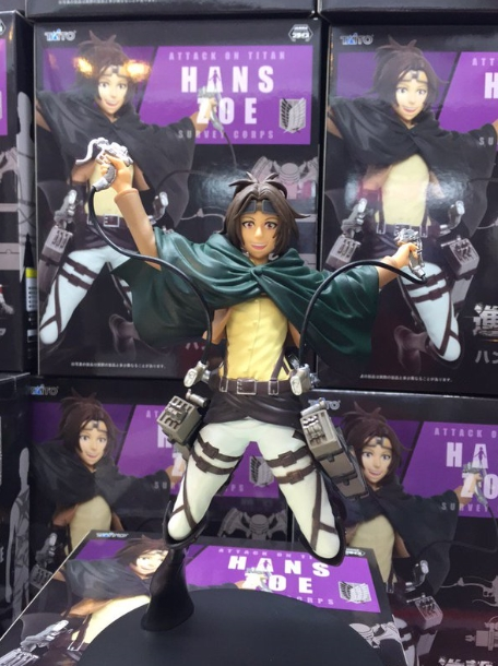Taito Japanese original anime figure Attack on Titan  Hans Zoe action figure collectible model toys for boys japanese anime poke death note attack on titan one piece game ow short wallet with coin pocket zipper poucht billetera
