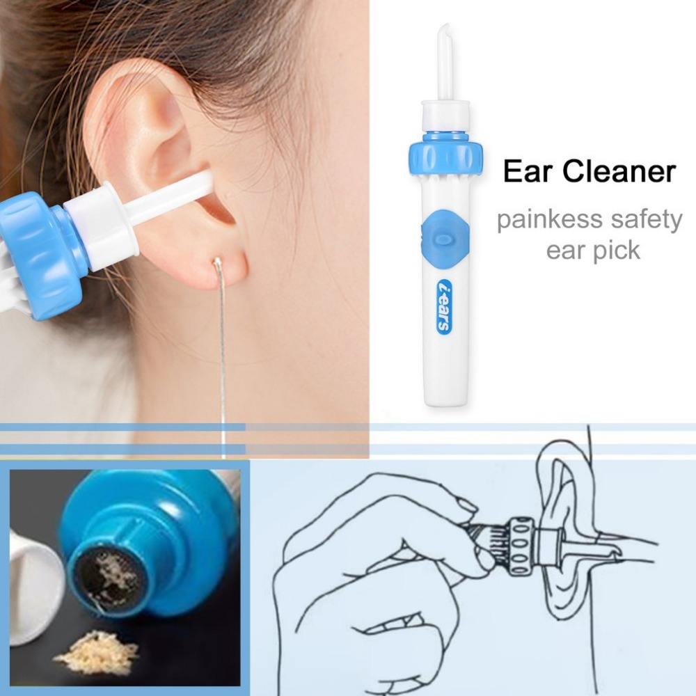 Strong Vibration Suction Health Smart Ear Care Swabs Ear Cleaner Suction Vibration Ear Cleaning Earwax Removal Tools Kit