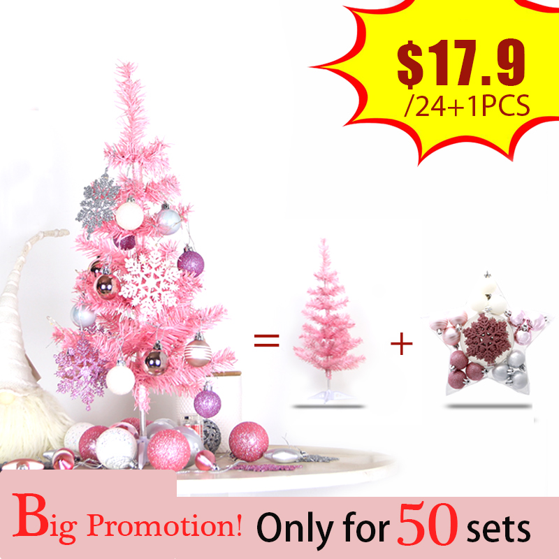 Black Friday Deals 60cm Pink Christmas Tree Package