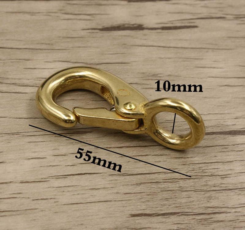 10-19 ミリメートル真鍮ラウンドベースロブスタークロウクラスプクリップバックルリングスナップフックウェビング首輪レザークラフトベルトアクセサリー