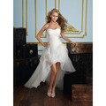 Vestido de noiva 2015 Mais Recente Mulheres Querida Beading Dianteiro Curto Voltar Longo Branco/Marfim Vestidos de Noiva HS30