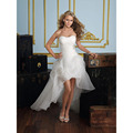 vestido de noiva 2015 Newest Women Sweetheart Beading Front Short Back Long White / Ivory Wedding Dresses HS30