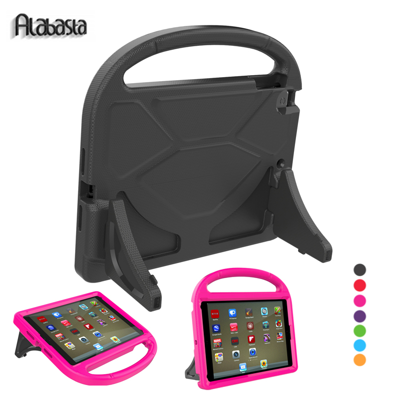 Alabasta for iPad 2 3 4 General Kids Case child Cover EVA Material Foorball Design with Kickstand Hand Strap Proof Save Soft pen alabasta case for apple ipad mini1 2 3